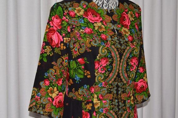 Dress Russian Traditional Folk Style Wool