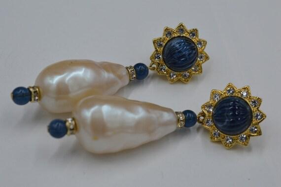 Rare Vintage Clip on Earrings Runway Kenneth Lane,