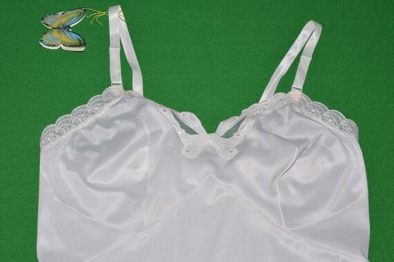 Vintage White Lingerie Underwear Slip 1970s - image 4