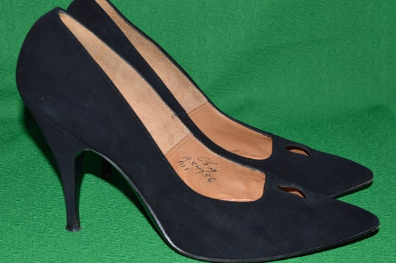 Shoes Black suede ANDREW GELLER 1950s