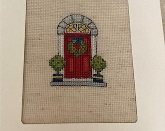 Christmas Wreath Doorway Card