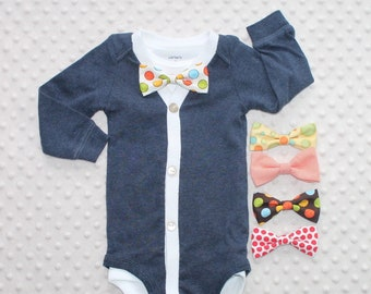 58593ad9b Smash Cake Outfit Baby Boy Outfit Baby Bowtie One Piece