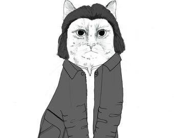 Evil Dale Cooper Twin Peaks cat - Doppelganger Coop - Kyle MacLachlan