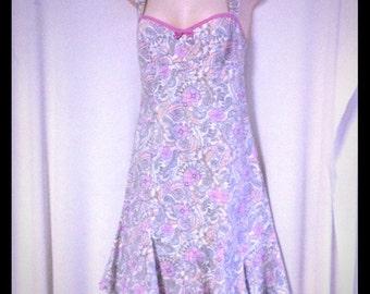 Nanette Lepore floral print cotton dress size 6
