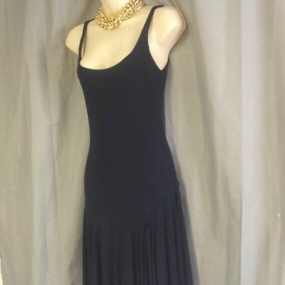 VTG 80's Elegant Ralph Lauren scoop neck tank dre… - image 3