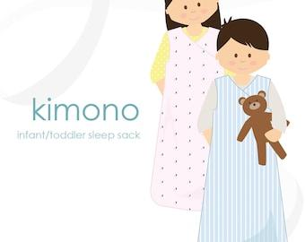 Sleep sack pattern: Kimono infant / toddler sleep sack PDF pattern