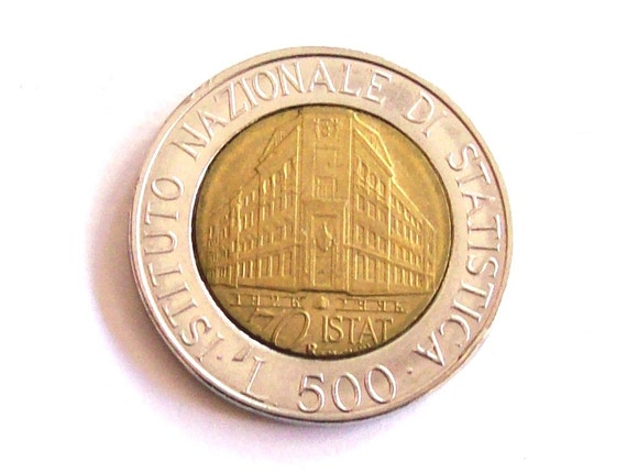 Vintage Italien 500 Lire Münze 1996 Die Italienische Etsy
