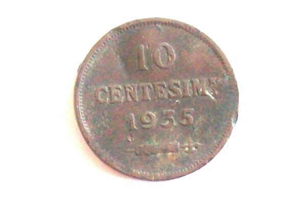 Jahrgang San Marino 1935 10 Cent Münze Repubblica Sanmarino Etsy