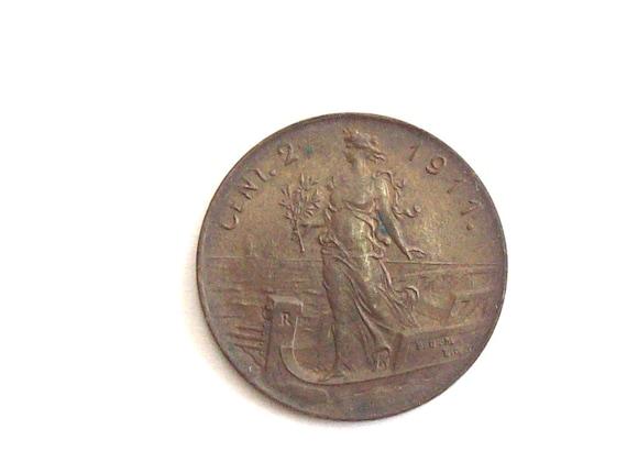 Jahrgang Italien 1911 2 Cent Münze Königreich Von Italien Etsy