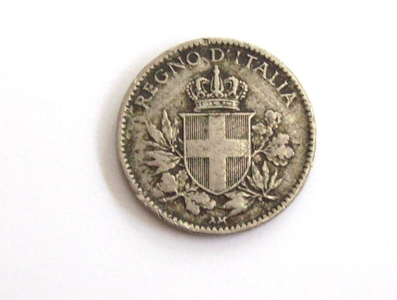 Vintage Antik 1918 Italien 20 Cent Münze Königreich Von Etsy