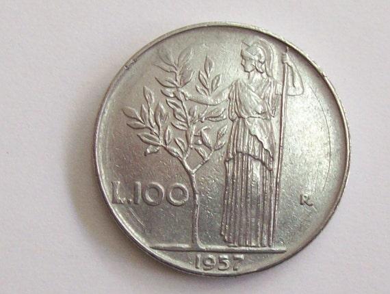 Jahrgang Italien 1957 Lire 100 Münzen Italienischen Etsy