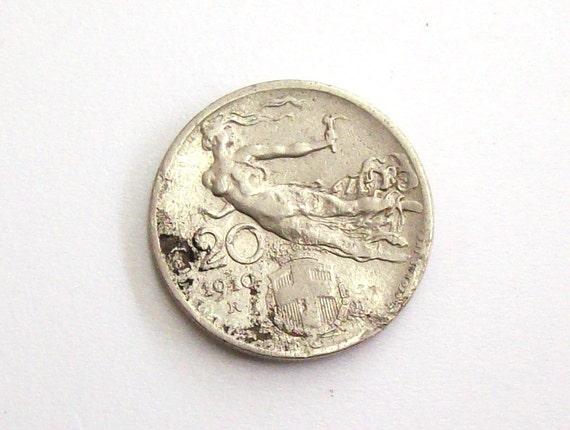 Vintage Antik 1910 Italien 20 Cent Münze Königreich Von Etsy