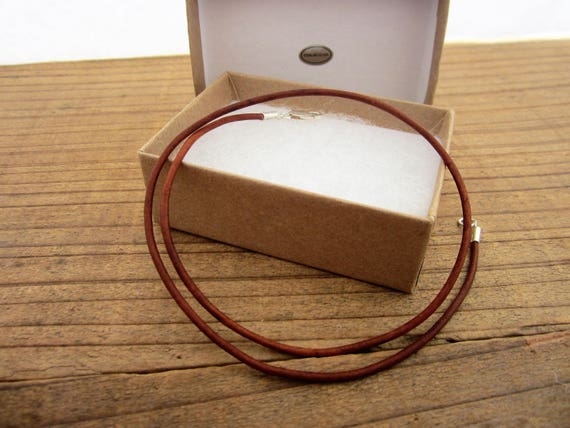 USA YOLLA 2mm Yellow Leather Cord Necklace with Pure Sterling Silver Ends