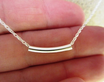 Pure Sterling Silver Chain with Sterling Silver Tube Bead