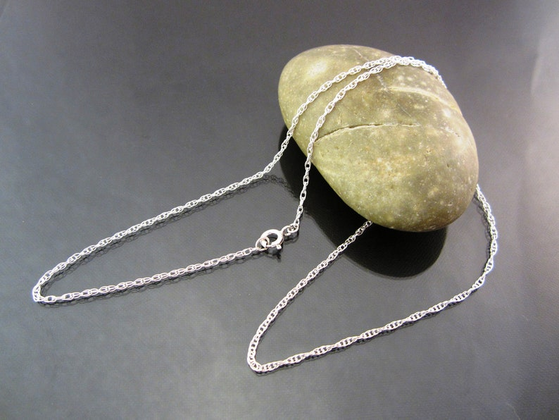 Pure Sterling Silver Chain Necklace  double rope  petite image 0