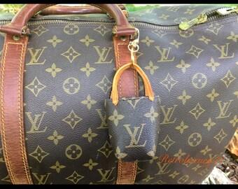 5d7b6b8a16da Custom Made Repurposed Upcycled Louis Vuitton monogram keychain key fob bag  charm never full mini bag