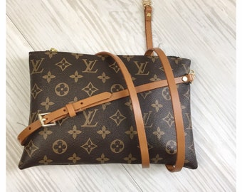 a3f4973b4c1 Leather Custom Made Crossbody for Louis Vuitton LV Replacement Strap  Adjustable 3 8