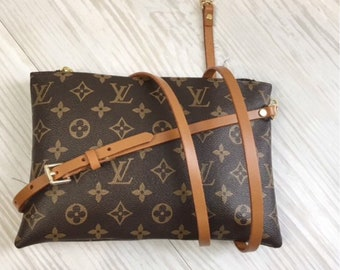 85da271823bb Custom Made REPLACEMENT Real Leather Crossbody Strap for Louis Vuitton  Style Color Bag Adjustable 3/8