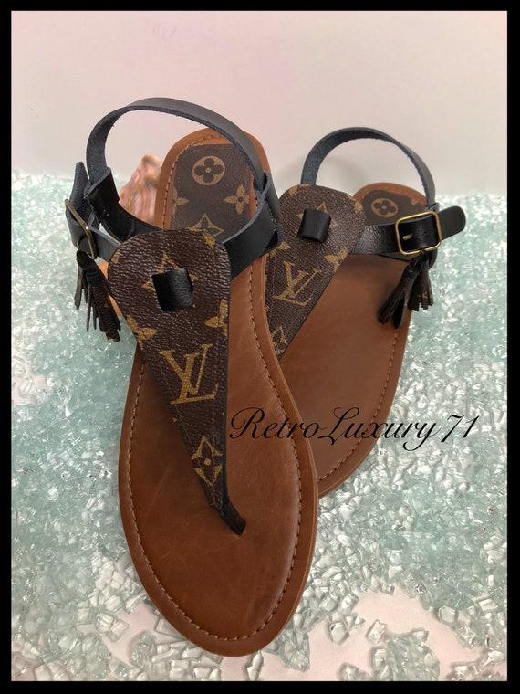 b1288ca2e2e0 CLOSEOUT Cutom made Reclaimed Louis Vuitton Handbag Bag Canvas