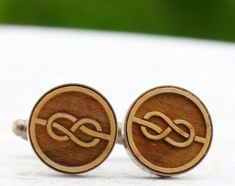 Tie The Knot, I Do, Better Together and I got you Laser Cut Wood Cufflinks - Rustic Wedding Cuff Links - Australian Seller