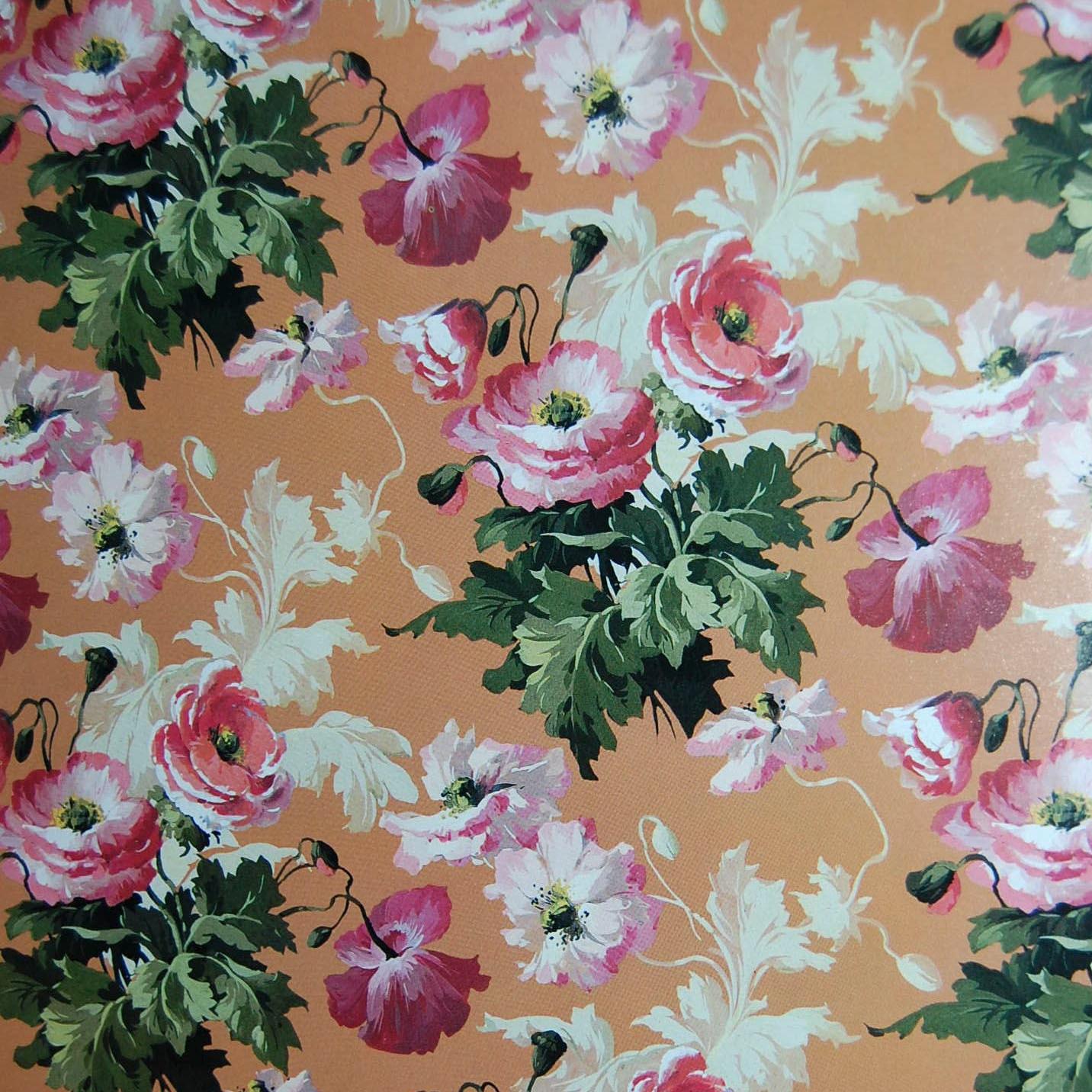 English Chintz Vintage Paper Poppies Decoupage Paper Etsy