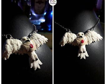 Hedwig, HP chouetteblanche necklace.