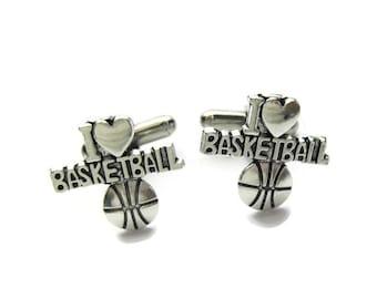 Basketball Cufflinks Basketball Player Cuff Links Angled Edition