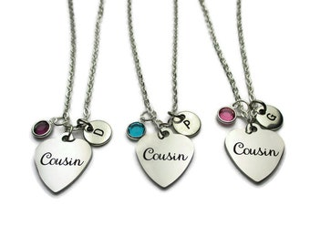 Cousins Gift Necklace Dainty Birthstone Necklace Cousins 2 3 4 Sister Birthday Gift  Wedding Gift Christmas Gift