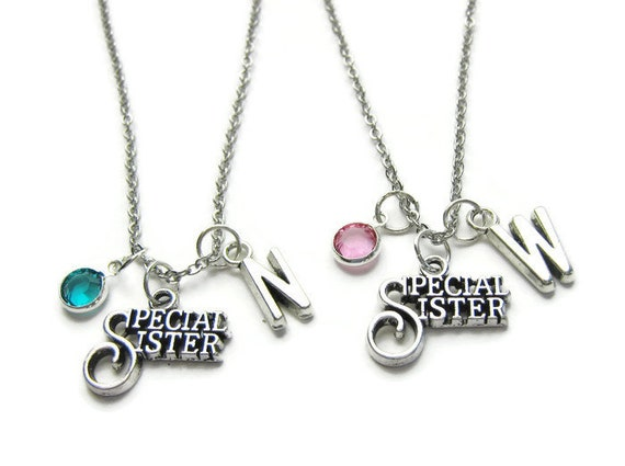 0bd46546ee100 2 Special Sister Necklaces, 2 Sisters Necklaces, Necklaces For 2 Sisters,  Sisters Necklaces, Sisters Jewelry, Personalized