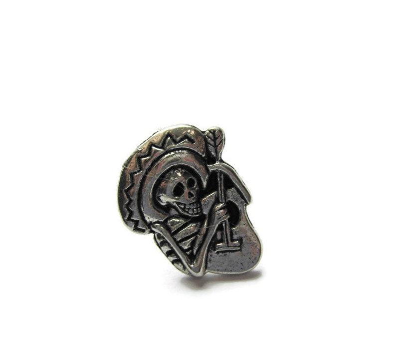 Skull Pin Sugar Skull Tie Pin Sugar Skull Tie Tack Skull Jewelry Skull Tie Tack Skull Tie Pin Skeleton Tie Pin Skeleton Tie Tack