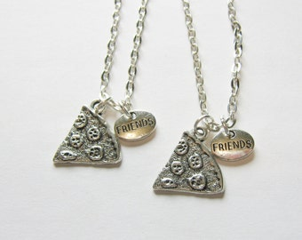 2  Pizza Best Friends Necklaces BFF