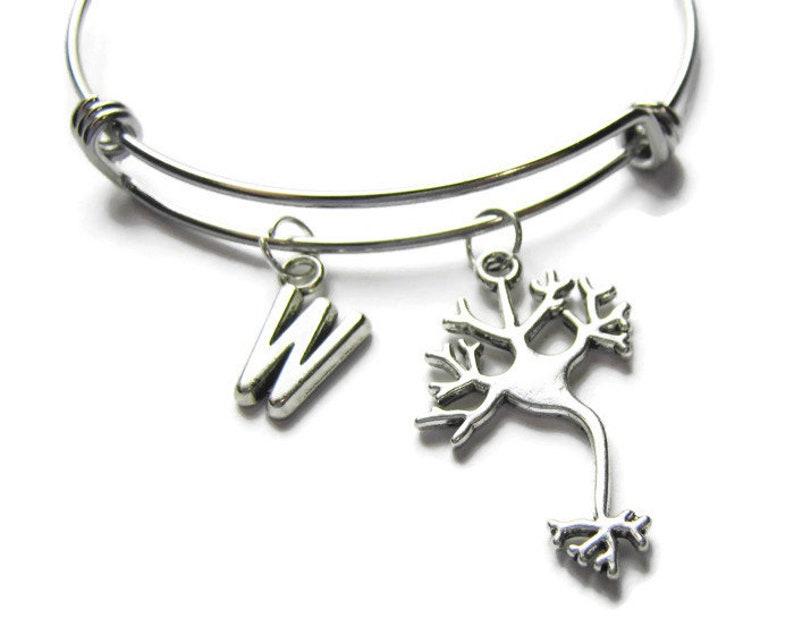 Science Bracelet Brain Bangle Neurologist Bracelet Personalized Neuron Bangle Scientist Bangle Bracelet For Scientist Neuron Bracelet