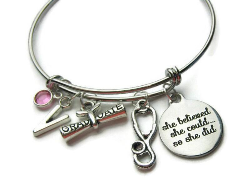 28fcf3ab3 Graduation Bangle Graduation Bracelet Stethoscope Bracelet | Etsy
