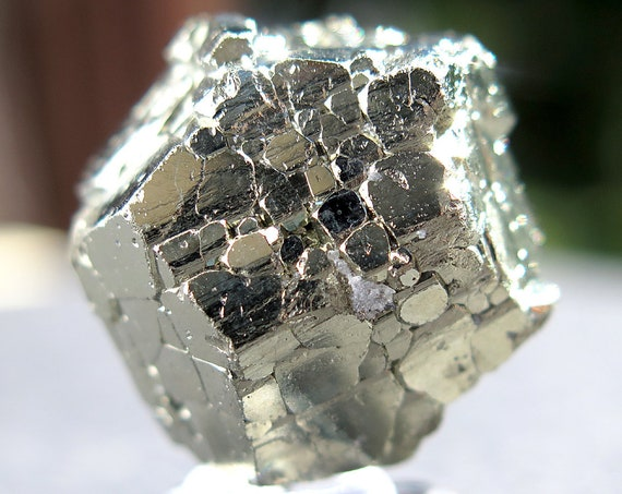 36.5 Gram Complete Complex Cool New Find of Pyrite. Pyritohedron, Twinned Crystal. Racracancha Mine, Pasco Dept. Peru