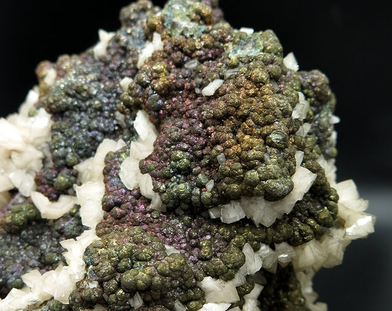 Dolomite with Iridescent Marcasite. Mined from Cane Creek Quarry, Butler Co., Missouri, USA (large-cabinet) 22.0 x 11.0 x 11.0 cm. 7.4 lb.