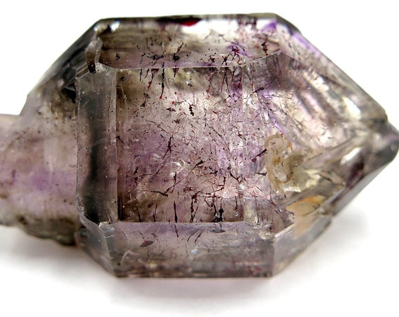 59.2 gram Smoky Amethyst Scepter with Hematite 58 x 29mm excellent scepter New production Zimbabwe