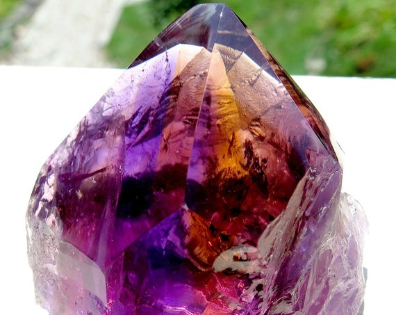 Finest Anahi Mine has to offer. Facet rough, quality, Gem Ametrine Polished Crystal. Vast gem clean areas for cutting or display. 221 grams