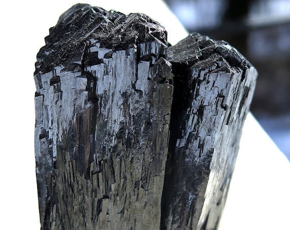 Super Luster Twin Ilvite Crystal Cluster Mounted on a heavy Lucite Base. Inner Mongolia, China
