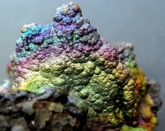 49.2 gram Iridescent Rainbow Turgite, hematite or goethite. Graves Mtns, Georgia, USA