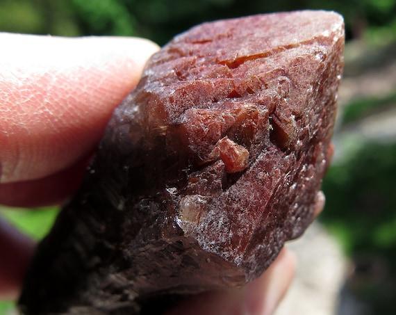 A Red Cap Termination 63 Gram Super Seven Crystal, Espirito Santo (Holy Spirit), in Northern Brazil