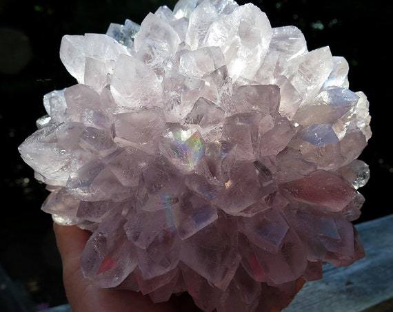 Anyone know how rare Lavender Amethyst Flowers are? A Wonderful 7 pound 4.8 oz. Natural Crystal Flower Discovered in Uruguay.