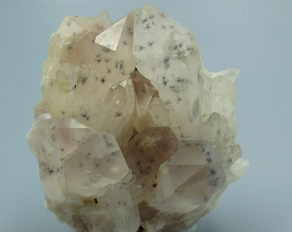 Top class Quartz with Heavy sharp Hollandite star inclusions from Ambatofinandrahana, Fianarantsoa, Madagascar