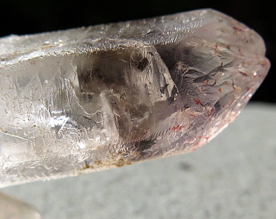 37.7 Gram Etched Smoky Quartz Brandberg with Hematite. Goboboseb Namibia