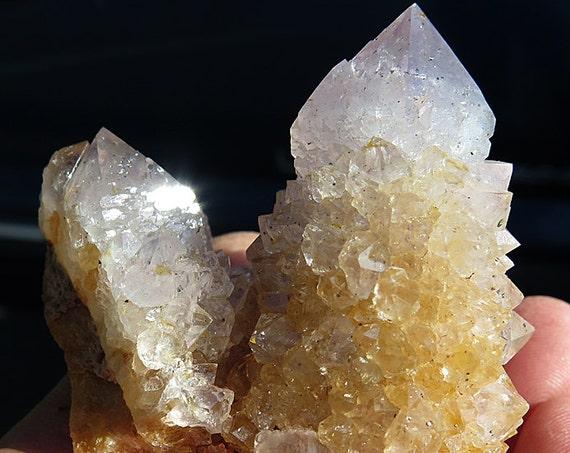 Large Golden Healer Quartz Spirit Cluster, Boekenhoutshoek, South Africa.
