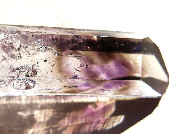A 24.4 Gram Smoky phantom amethyst glassy crystal. 2.75 inch. Namibia
