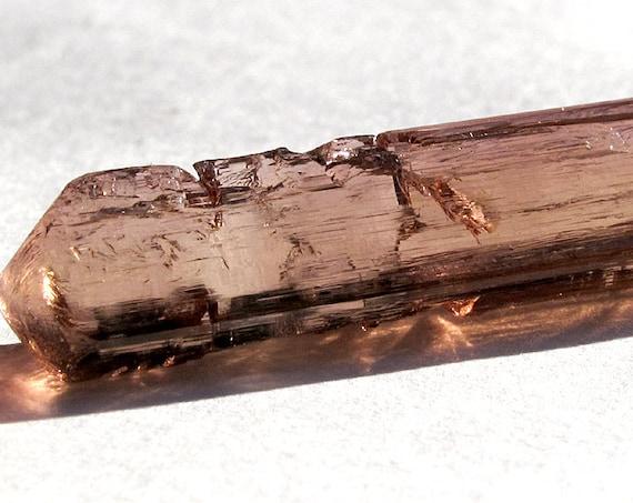 10 carat Gem etched Tourmaline from Baixão claim, Taquaral, Itinga, Minas Gerais, Brazil