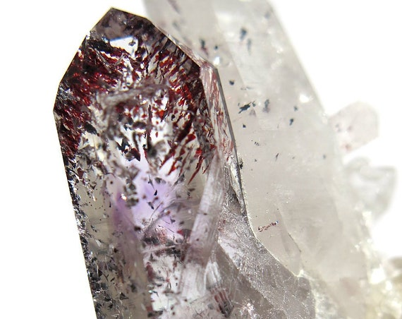 31.3 gram Brandberg Amethyst Crystal with fire red hematite with a bit o matrix 59 mm x 28 mm