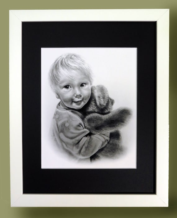 A Classic Print of Child with Teddy Bear. By Christina Maschke. Available framed and ready to hang or simply matted. 11x14.
