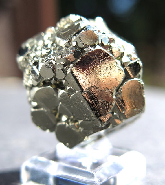 41.6 Gram Complete Complex Cool New Find of Pyrite. Pyritohedron, Twinned Crystal. Racracancha Mine, Pasco Dept. Peru