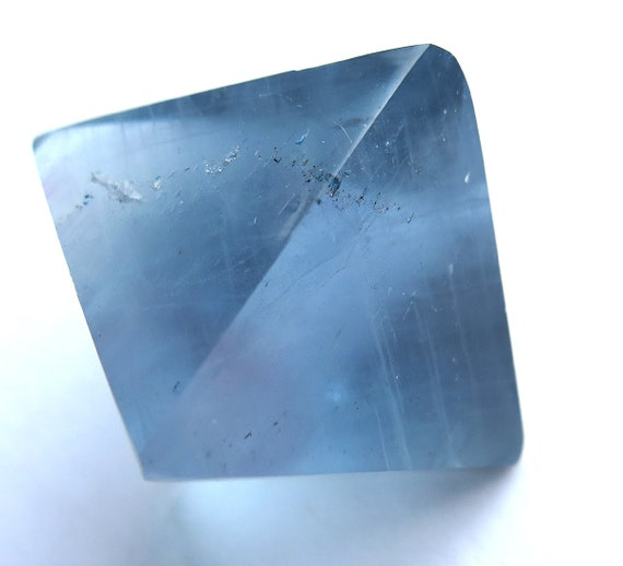Offering a beautiful blue polished Octahedral Fluorite. Hardin Co., Illinois